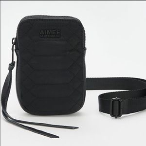 Aimee Kestenberg Small Nylon Crossbody Bag Black